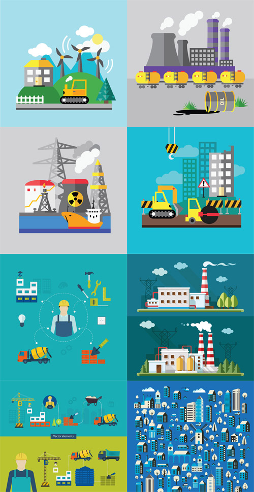 Vector Set - Indystry and Construction
