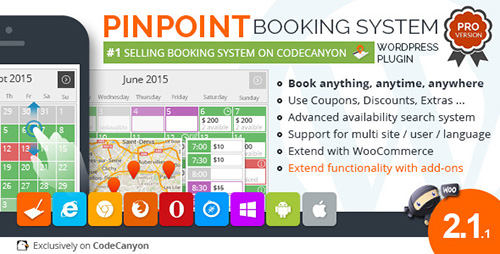 CodeCanyon - Pinpoint Booking System PRO v2.1.1 - Book everything with WordPress - 2675936