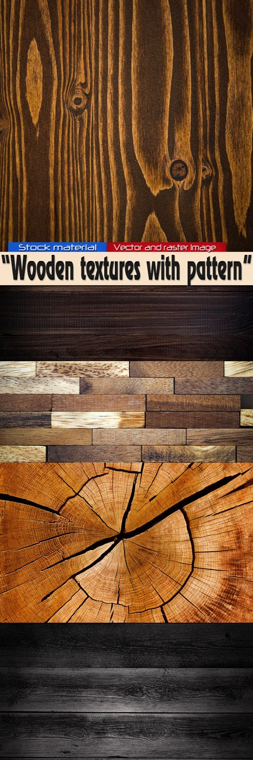 Wooden textures with pattern