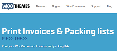 WooThemes - WooCommerce Print Invoice Packing list v2.6.1