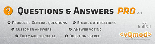 Questions & Answers PRO  v2.1.0 - Ask a question / FAQ - Extension For OpenCart 2.0.1