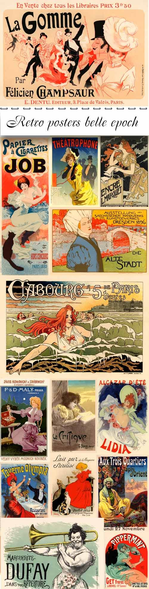 Retro posters belle epoch