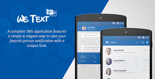 CodeCanyon - WeText v1.0 - Mobile SMS Application with AdMob - 11851690