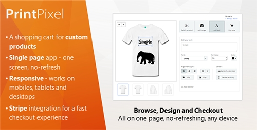 CodeCanyon - PrintPixel - A shopping cart for custom products (Update: 28 April 15) - 9873889