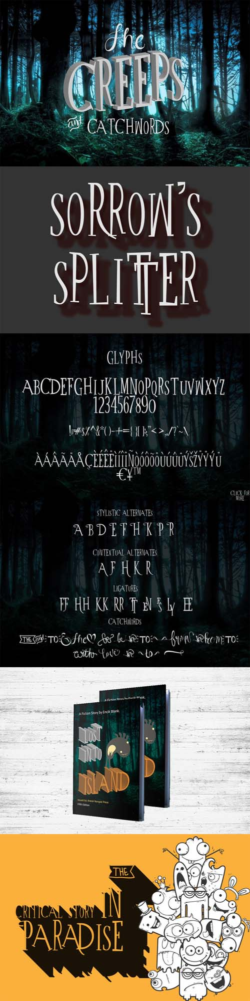The Creeps + Catchworks Font