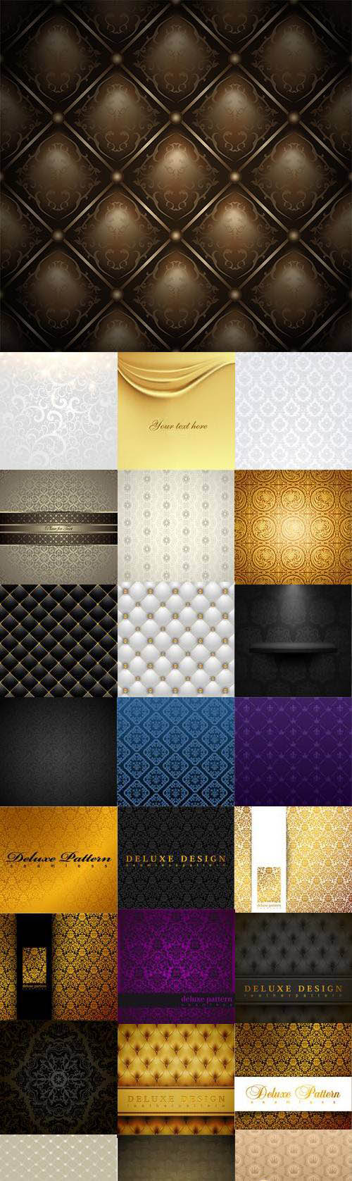 25 Deluxe Patterns Vector Set