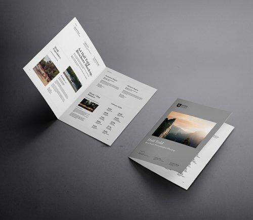 PSD - Half Fold A4 Psd Mockup Vol 2 » NitroGFX - Download Unique Graphics For Creative Designers