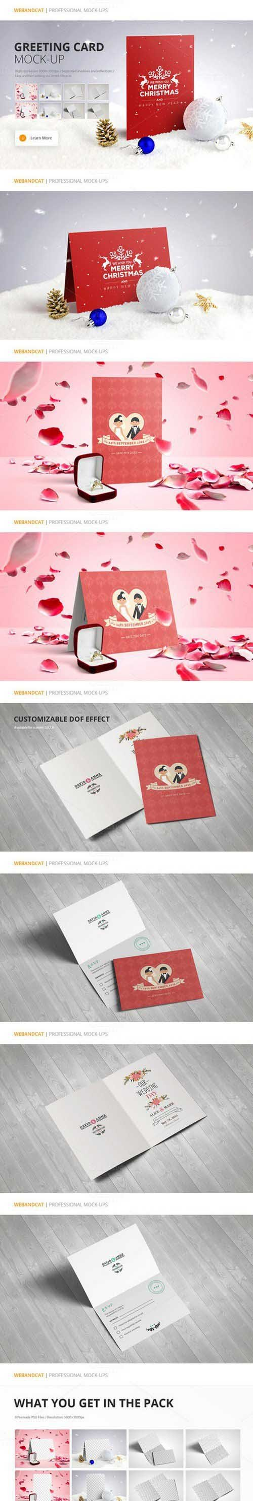 Invitation / Greeting Card Mock-Up 432125
