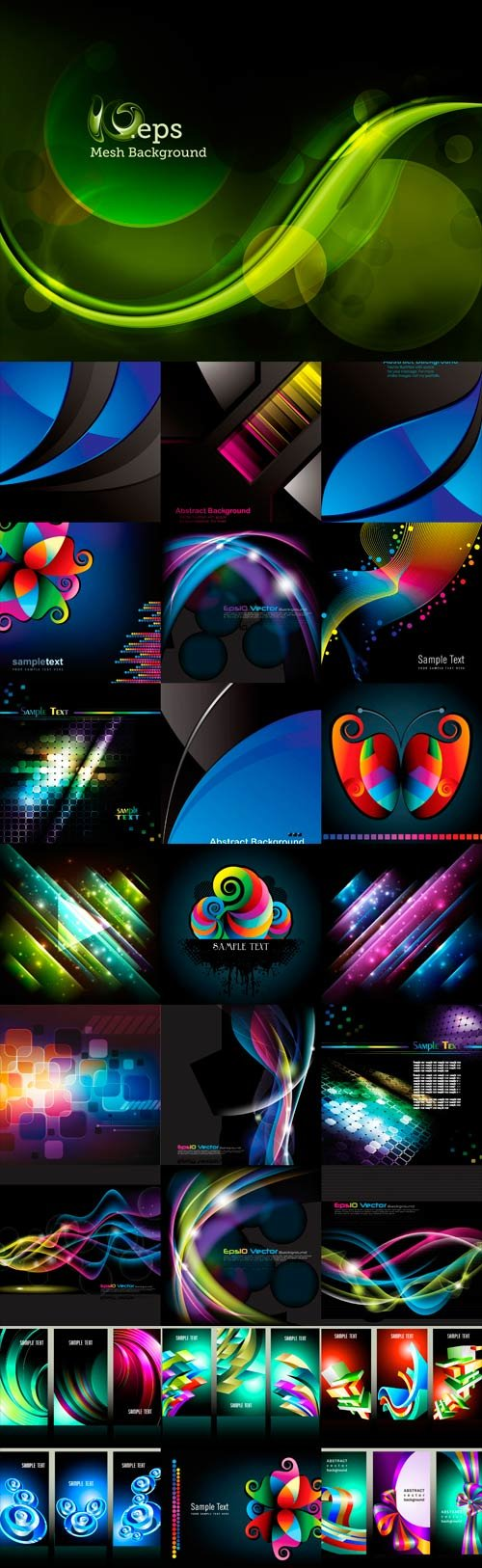 Bright colorful abstract backgrounds vector -35