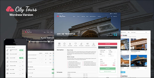 ThemeForest - CityTours v1.0.5 - Hotel & Tour Booking WordPress Theme - 13181652