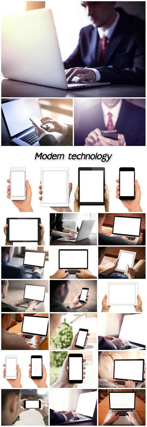 MODERN TECHNOLOGY, TABLET, SMARTPHONE, LAPTOP
