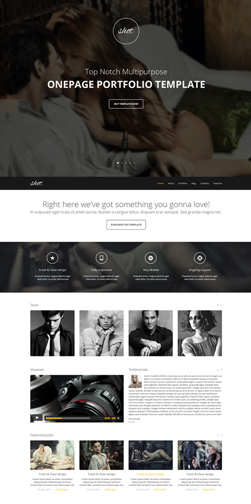 GT3Themes - Photography One Page Bootstrap Template