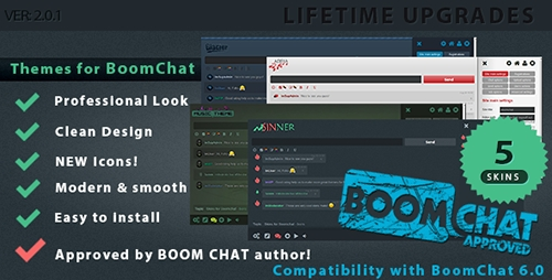 CodeCanyon - Themes for BoomChat - Professional Skin Pack v2.0.1 - 12025789