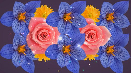 Background footage rotating flowers - Free download