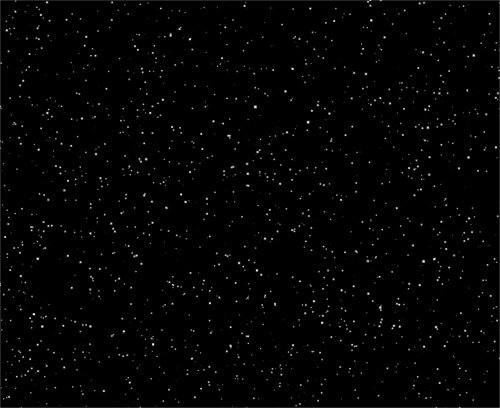 Space. Flying Star on a black background
