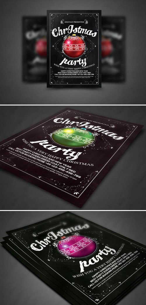 CM - Christmas Party Flyer Celebration