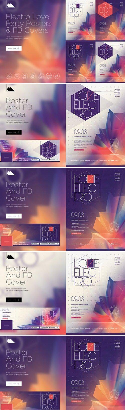 CM - Electro Love 4 Posters