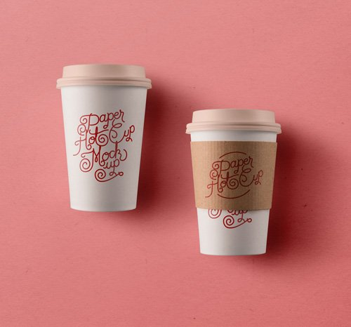 Paper Hot Cup Template Vol 3 PSD