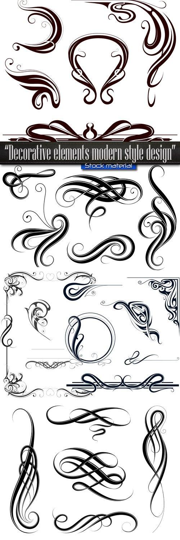 Decorative elements modern style design