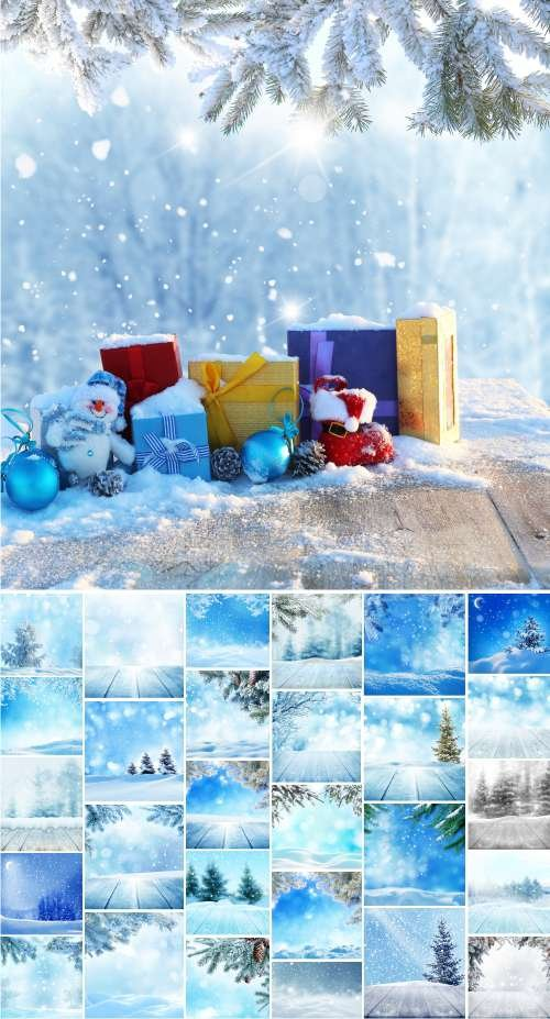 Winter abstract background. Сhristmas landscape - 2, 29 JPEG