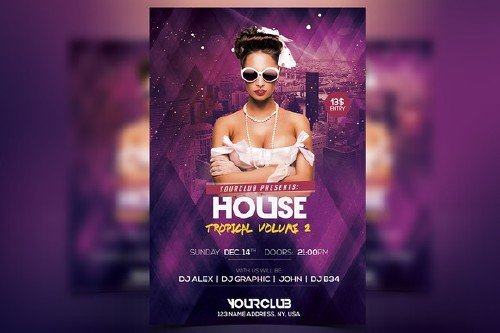 CM - House Tropical Vol.2 - PSD Flyer 457526