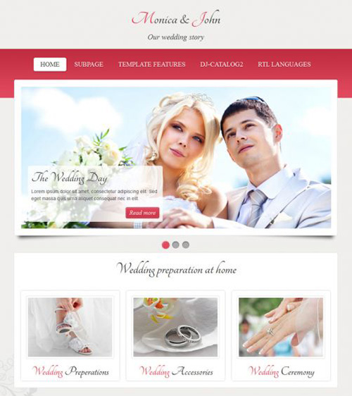 Joomla-Monster - JM Wedding06 v1.02 - Joomla 2.5 & 3.x Template
