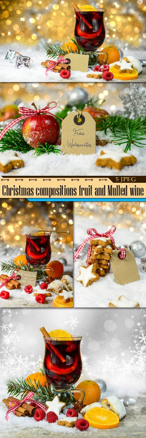 CHRISTMAS COMPOSITIONS FRUIT AND MULLED WINE