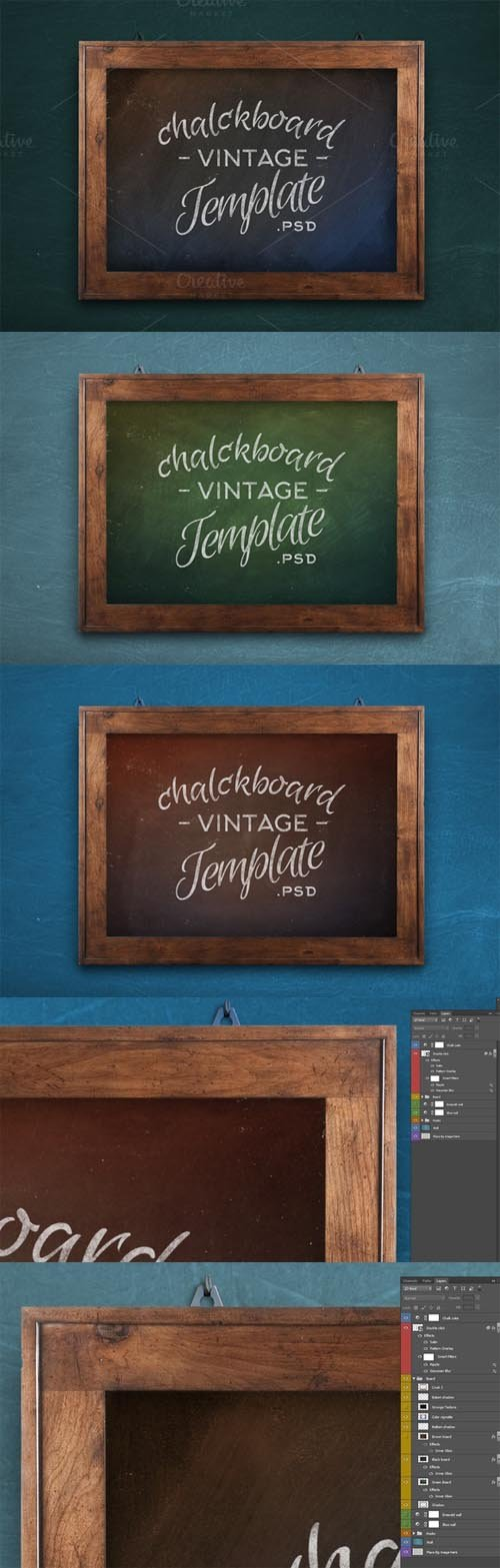 PSD - Chalkboard Vintage Mock-Up Template