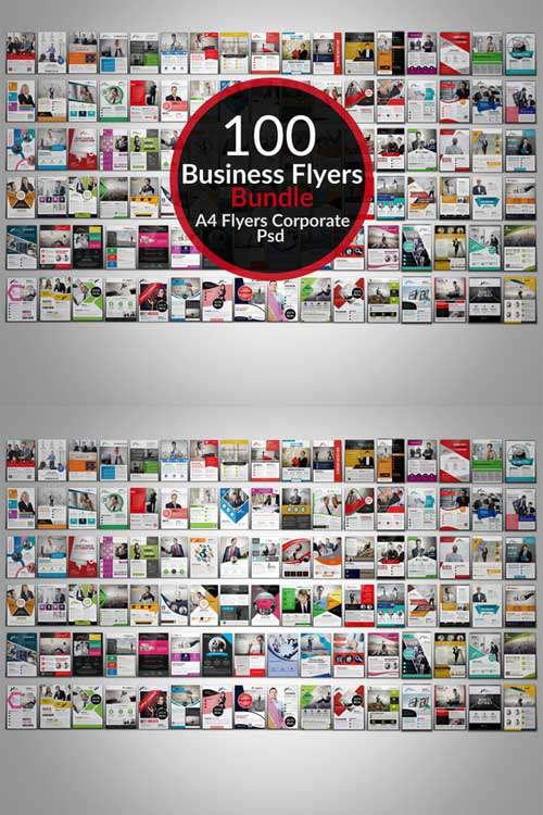 CM - 100 Creative Business Flyers Bundle