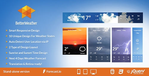 CodeCanyon - Better Weather v1.4 - Stand-alone - 7702441