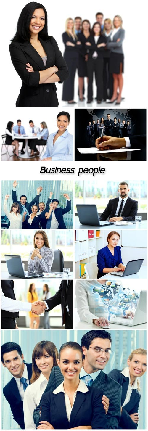 Business people, working collective