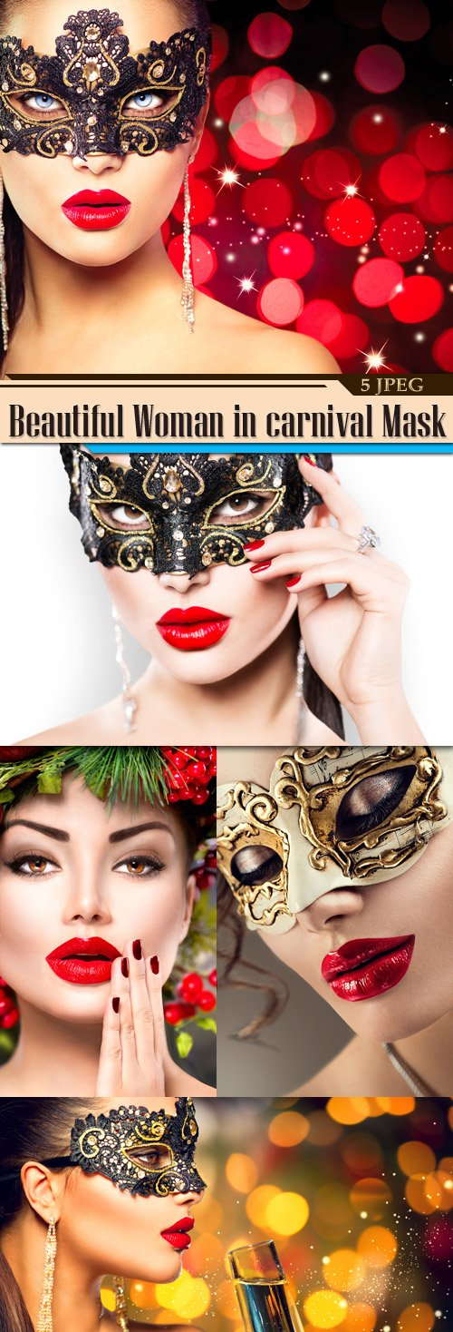 Beautiful Woman in carnival Mask