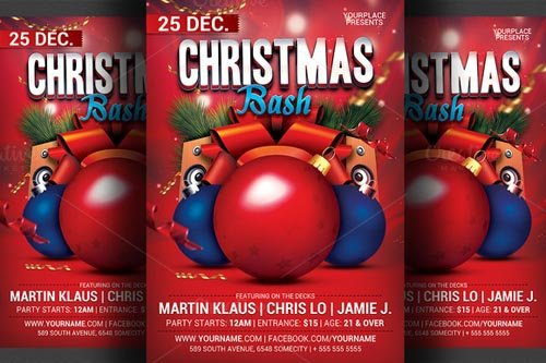 Christmas Bash Party Flyer Template 466093