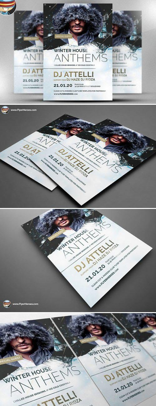 Winter Anthems Flyer Template 466409