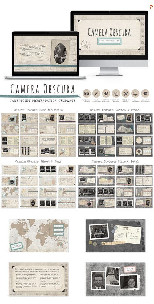 CM - Camera Obscura Powerpoint Templates 462492