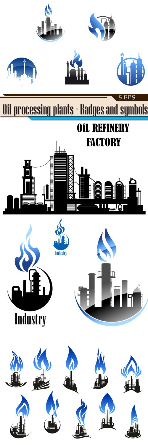 Oil processing plants - Badges and symbols