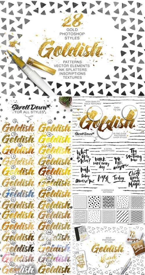 CM - Goldish Kit. Gold Styles with Extras