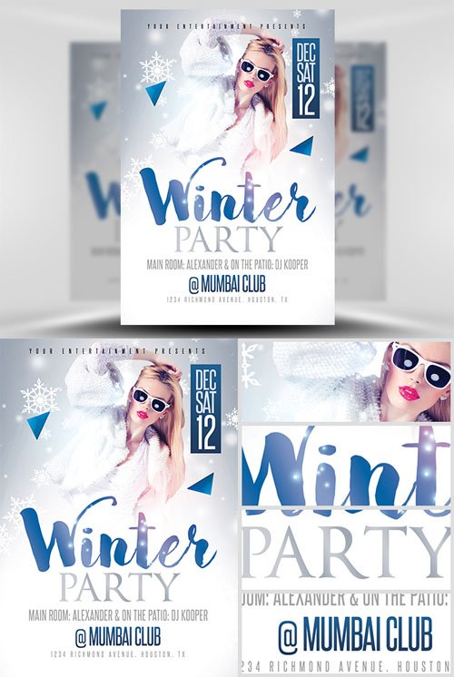 Flyer Template PSD - Winter Party