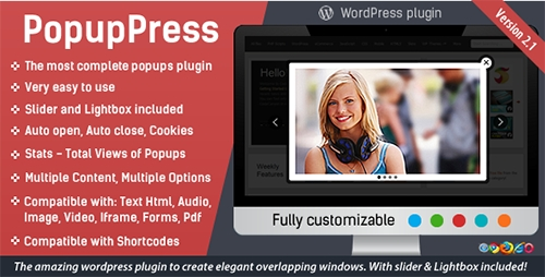 CodeCanyon - PopupPress v2.1.8 - Popups with Slider & Lightbox for WP - 5197157