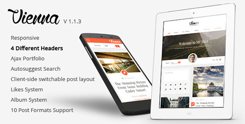 ThemeForest - Vienna v1.1.3 - Content Focused Personal Blog Theme - 8760101