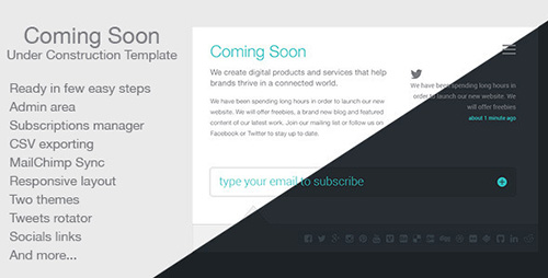 ThemeForest - Coming Soon v3.0.2 - 159422