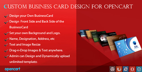 CodeCanyon - Custom Business Card Design for OpenCart (Update: 16 October 15) - 7459945