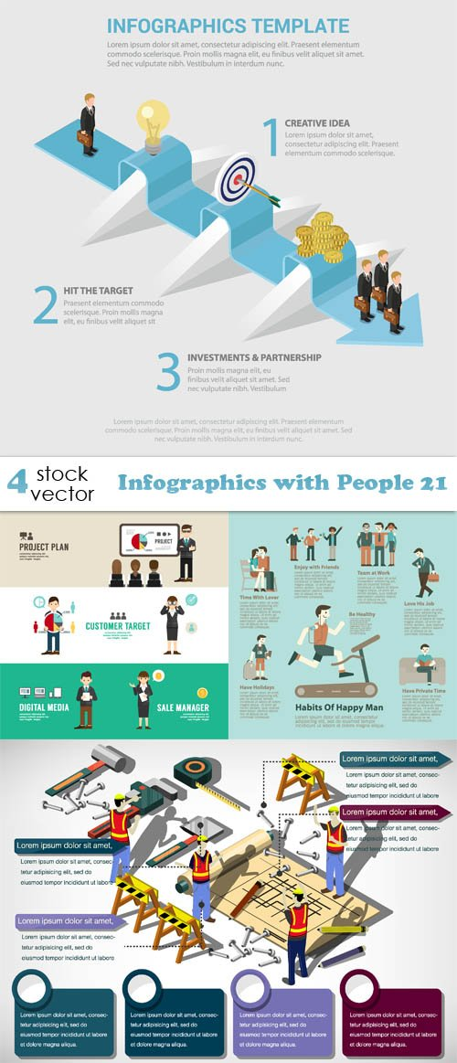 Vectors - Infographics with People 21