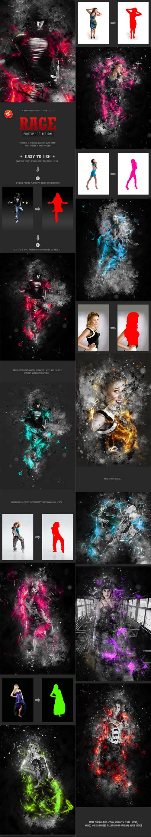 GraphicRiver - Rage Photoshop Action 13948990