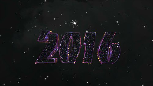 2016 inscription in space footage