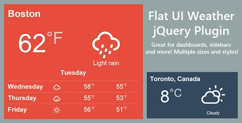 CodeCanyon - Flat Weather jQuery Plugin v1.0 - 9265378