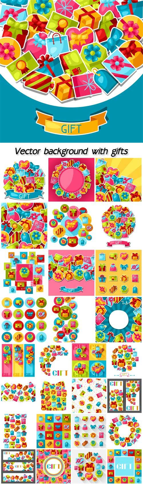 Vector background with gifts