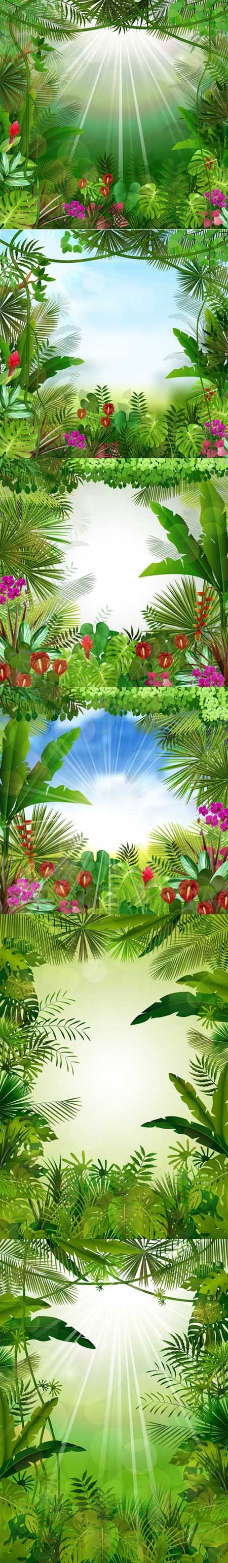 Tropical background beautiful - Vectors