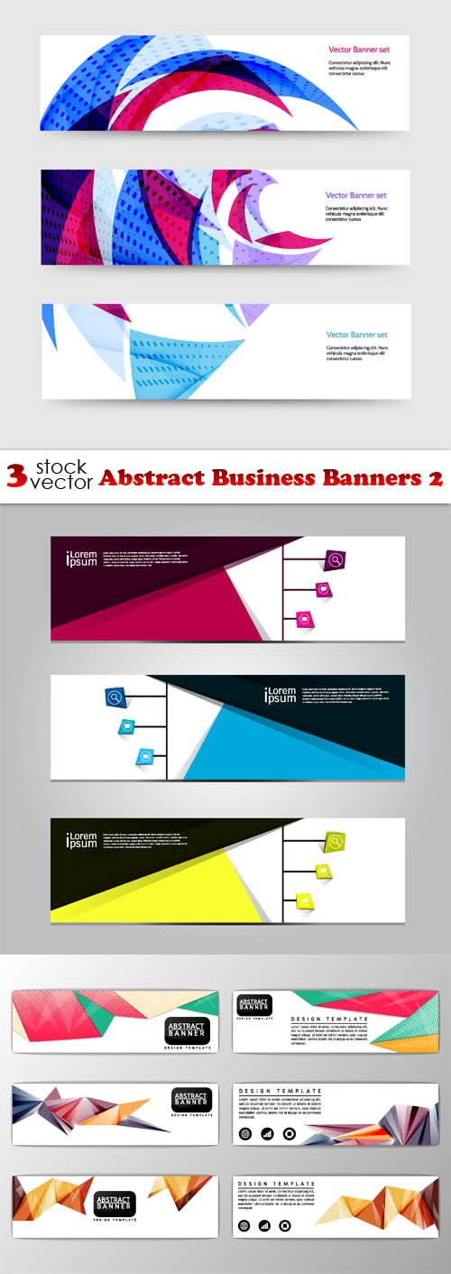 Vectors - Abstract Business Banners 2