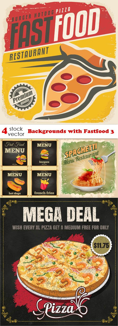 Vectors - Backgrounds with Fastfood 3
